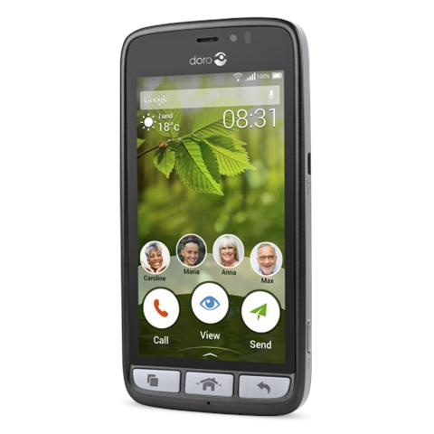 """Doro 8031 Nero 8 GB 4G / LTE Display 4.5"""" Slot Micro SD Fotocamera 5 Mpx Android Europa"""
