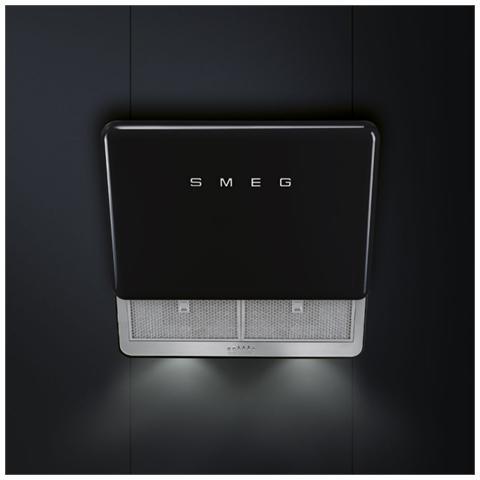 SMEG - Cappa KFAB75BL Montabile a Parete da 75 cm Filtrante Colore Nero cb4f65d649d8