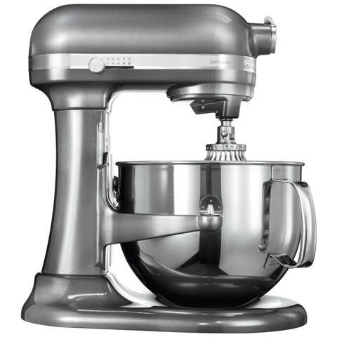5KSM7580XEMS Robot da Cucina 5 Accessori Inclusi 6.9 Litri Potenza 500 Watt Colore Argento