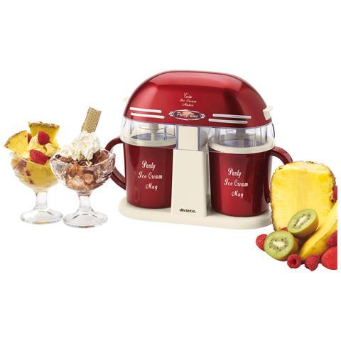 Twin Ice Cream Maker Gelatiera 800 ml Potenza 9,5 Watt Colore Rosso