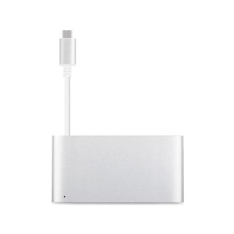 Image of 99MO084204, HDMI, Thunderbolt 3, USB 3.0 (3.1 Gen 1) Type-A, USB 3.0 (3.1 Gen 1) Type-C, USB 3.0 (3.1 Gen 1) Type-C, MacBook Pro (Retina, 15-inch, Late 2016) MacBook Pro (Retina, 13-inch, Late 2016) , Carica, Argento, Alluminio