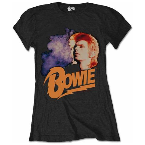 ROCK OFF David Bowie - Retro Bowie 2 Blk (T-Shirt Donna Tg. XL)