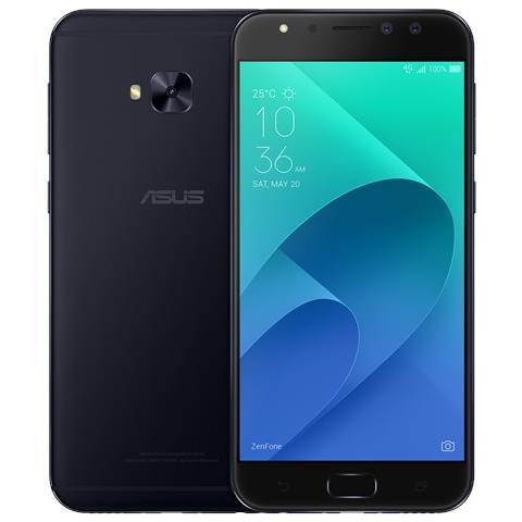 "ASUS Zenfone 4 Selfie Pro Nero 64 GB 4G / LTE Dual Sim Display 5.5"" Full HD Slot Micro SD Fotocamera 24 Mpx Android Italia"