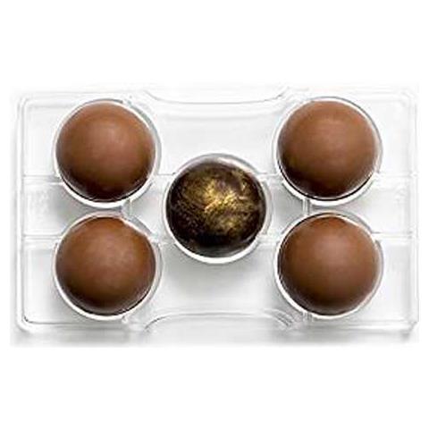 Decora Stampo cioccolatino 1/2 sfera c / base 50-200x120x22mm