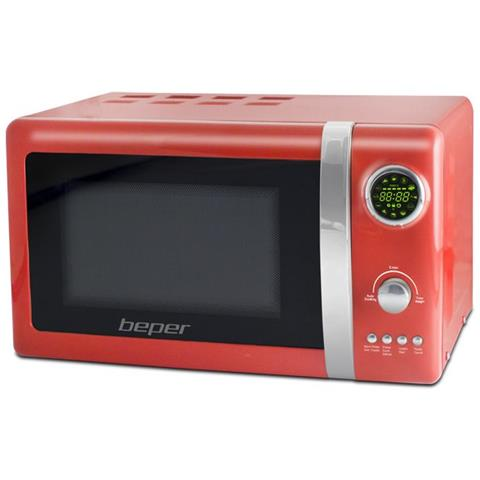 Forno Microonde Piatto Diametro 24,5 Cm Potenza 700 Watt Rosso Cod 90.890r