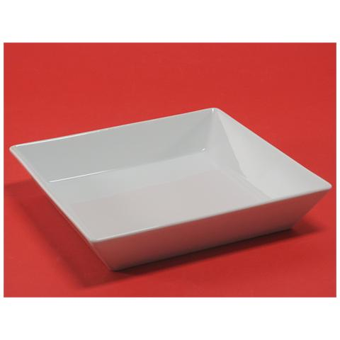 H&H Piatto Porcellana Classic Square Fondo 21,5 Stoviglie