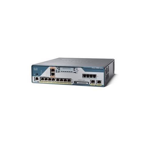 Cisco 1861, 8 utente (i) , URL, IPsec DES, 3DES, AES 128, 192, 256, MPLS VPN, 80W, 100 - 2...