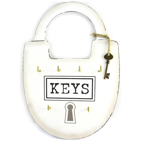 Les Trésors De Lily caso chiave 'mega cadenas' avorio (6 tasti) - 23x35 cm - [ m9058]