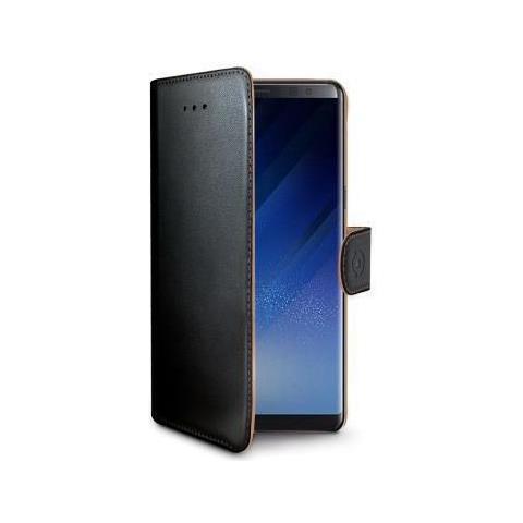 CELLY Flip Cover Custodia a Libro in Similpelle per Galaxy Note 8 Colore Nero