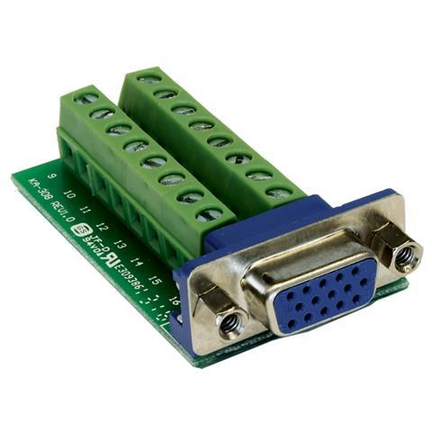EXSYS EX-49020, VGA, 16p, Maschio / femmina, Verde, Argento, RoHS, 0 - 55 C