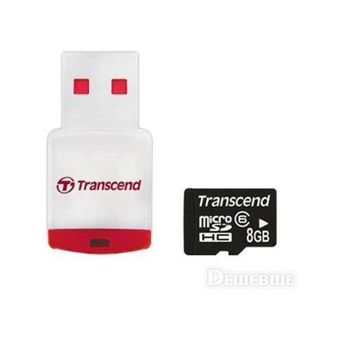 TRANSCEND Micro Sdhc 8gb + Card Reader