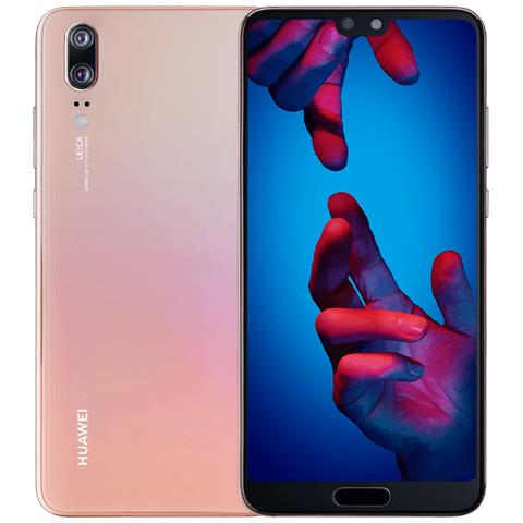 "HUAWEI P20 Rosa 128 GB 4G / LTE Display 5.8"" Full HD Slot Micro SD Fotocamera 20 Mpx Android Italia"