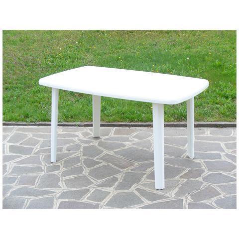 Tavolo Resina Art. 56 Cm. 137x85 Bianco