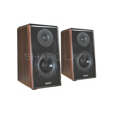"""Plug & Sound Coppia Casse Amplificate Bluetooth Home Theatre """"deluxe"""" 280w Noce Art. 500act"""