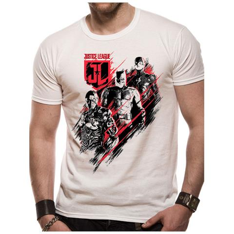 CID Justice League Movie - Distortion (T-Shirt Unisex Tg. 2Xl)