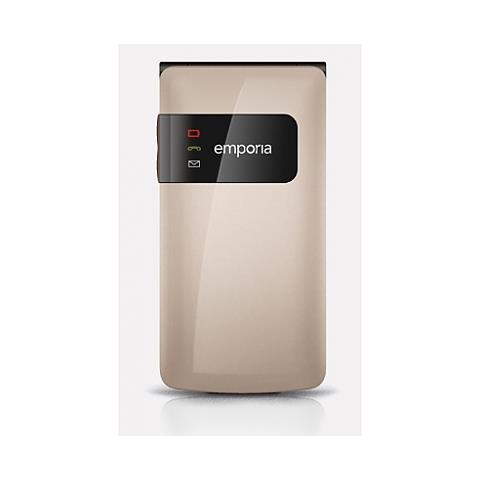 "Emporia FLIPbasic Senior Phone Display 2.2"" Fotocamera Tasti Grandi e SOS Colore Champagne - Europa"