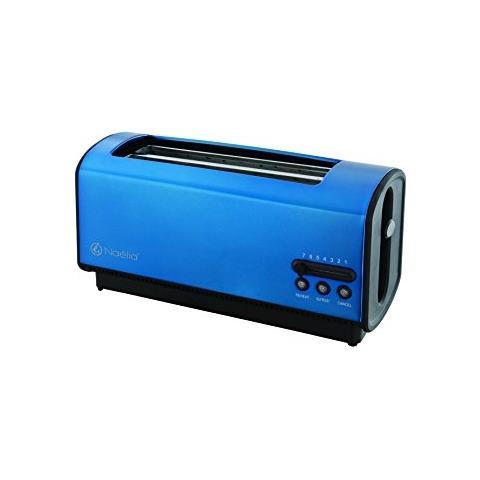 Image of Nae - Tostapane Con 2 Pinze Grandi In Acciaio Inox, 36,6 X 16,5 X 18 Cm Blu Elettrico
