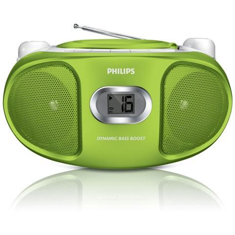 Philips AZ105G, CD / CD-R / CD-RW, FM, 2x 1W, 3.5mm, 1.5V