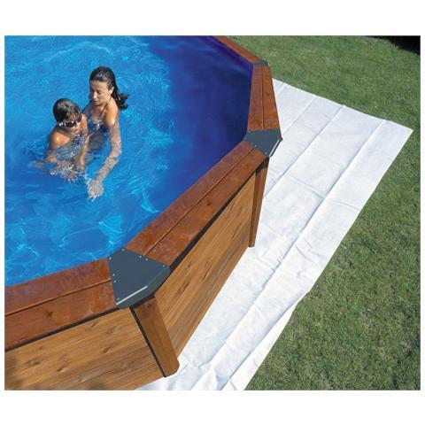 Tappeto Poliestere Per Piscina Ovale, 110 Gr / Mq, Protezione Terreno 750x400 Cm