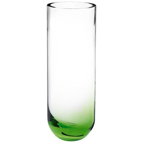 HOME Vaso Vetro Fondo Verde Decorazioni