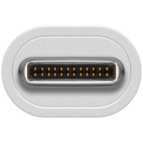 WENTRONIC 71431, USB C, HDMI, 2x USB 2.0, 1x USB 3.0, 1 x USB C, Maschio / femmina, Bianco, Nichel