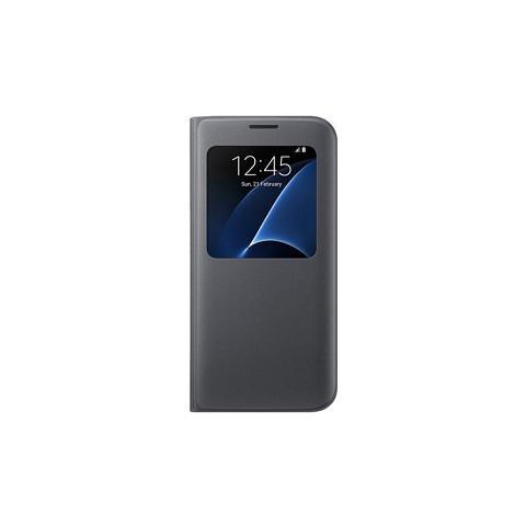 SAMSUNG Custodia Con Finestra Intelligente Originale Samsung Galaxy S7 Edge - Nera