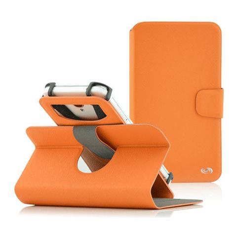 """FONEX Denim Window Custodia Universale per Dispositivi fino a 6"""" Colore Arancio"""