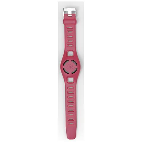 DIGICOM Braccialetto Kid-u Localizzatore Impermeabile con Cinturino Regolabile per Sistema iOS e Android Colore Rosso