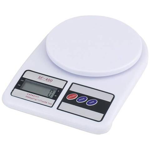 Bilancia Digitale Lcd Tasto Tara Pesa Da 1 Gr A 7 Kg Sf 400 Casa Cucina