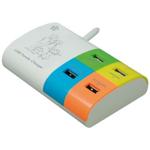 MEDIACOM Carica Batterie Multiplo 4 porte USB