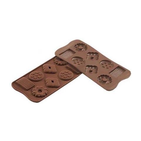 Silikomart Stampo cioccolato bisquit easy choc 35x18mm h. 16mm 112.5ml silicone