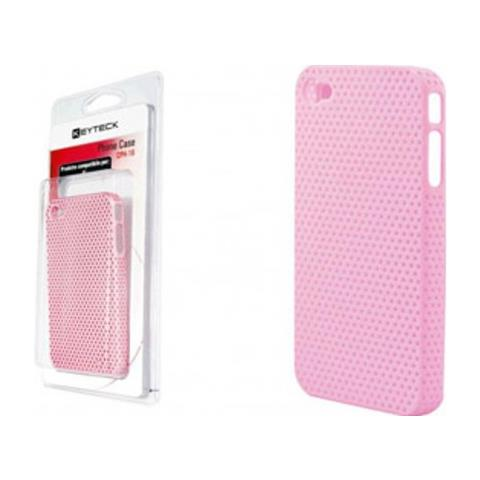 Virus Custodia Cover Proteggi I-phone 4 In Plastica Keyteck Pink Cph-16