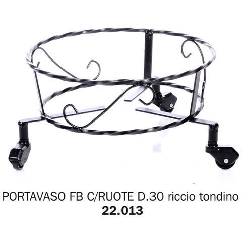 Portavaso Fb Con Ruote D. 30 Riccio Tondino