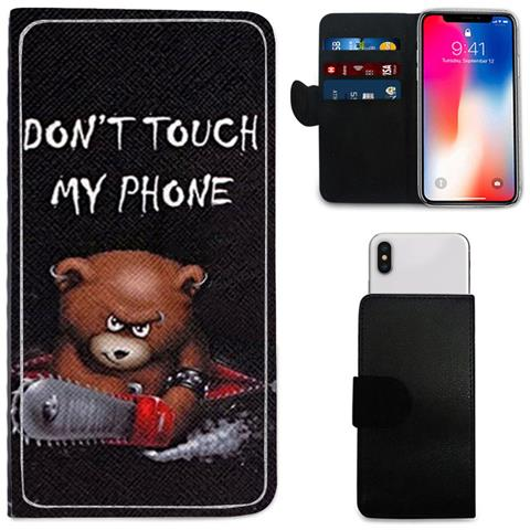 i-Tronixs - Premium High-quality Dont Touch My Phone Bear Design Printed Pu  Leather Wallet Case For Samsung Galaxy A3 2016 - ePRICE 54e1c719c2747