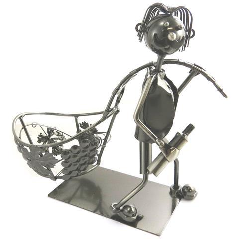 Les Trésors De Lily portabottiglie 'sculpture métal' mietitrice - [ m9895]