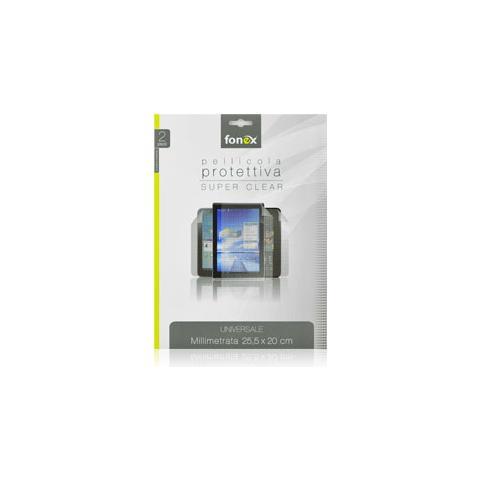 """FONEX Pellicola Protettiva Ultra Trasparente Universale 12"""" 25,5x20 cm (2Pz)"""