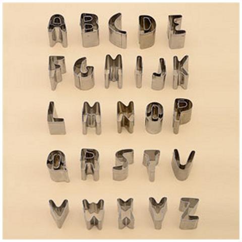 26 Tagliapasta Lettere Alfabeto In Acciaio Per Pasta Di Zucchero