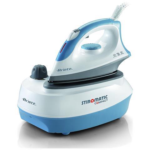 ARIETE Stiromatic 6253 Ferro da Stiro con Caldaia Continua Potenza 2400 Watt Colore Bianco e Blu