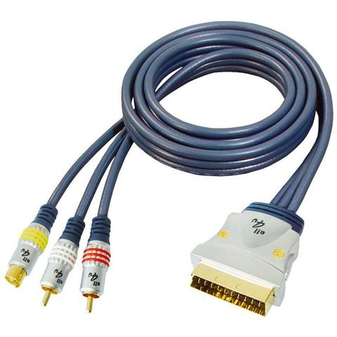 ALL4U Scart - RCA, 3m, 3m, S-Video (4-pin) + 2xRCA, SCART (21-pin)