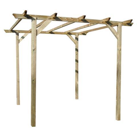 Pergola in legno di pino 300x300x240H cm
