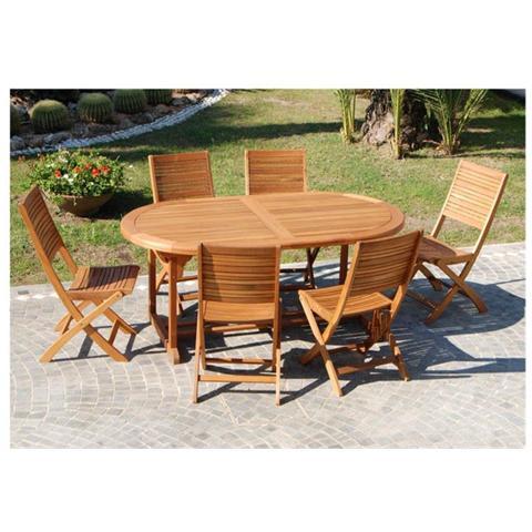 Tavolo esterno giardno con struttura in legno di Eucalypto 180/240x100x74