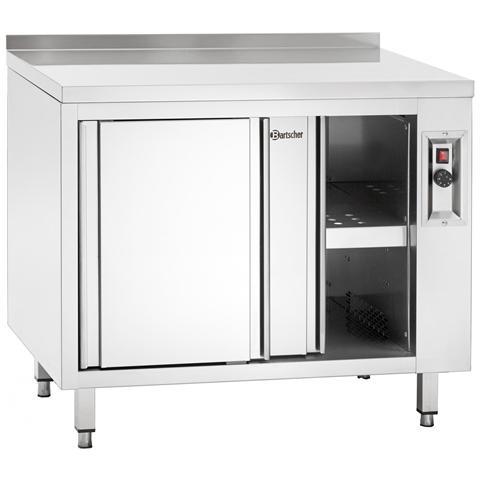 348207 Armadio in inox riscaldato con ripiano 2000x700x850-900 mm