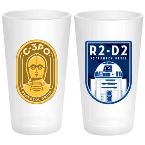 Star Wars: R2d2 C3po Icon (set 2 Bicchieri)