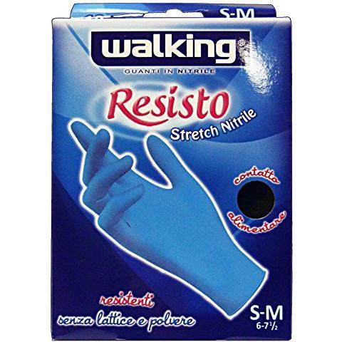 Walking Guanti X 10 Resisto S-m Nitrile Giardinaggio