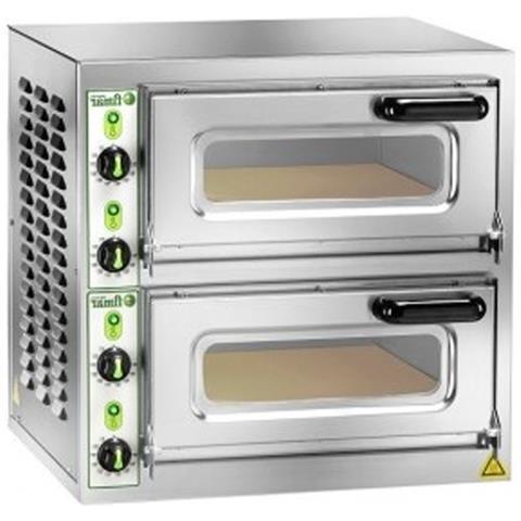 Forno pizza pizzeria elettrico doppia camera cm. 40x40x11h. - 4,4 Kw.