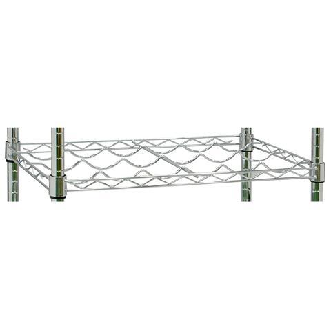 ARCHIMEDE SYSTEM Ripiano Portabottiglie, Cromato, Riposizionabile 35,6x60,4 Cm