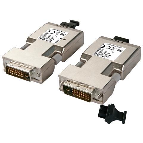 LINDY Extender DVI-D Dual Link su fibra ottica MPO 500m