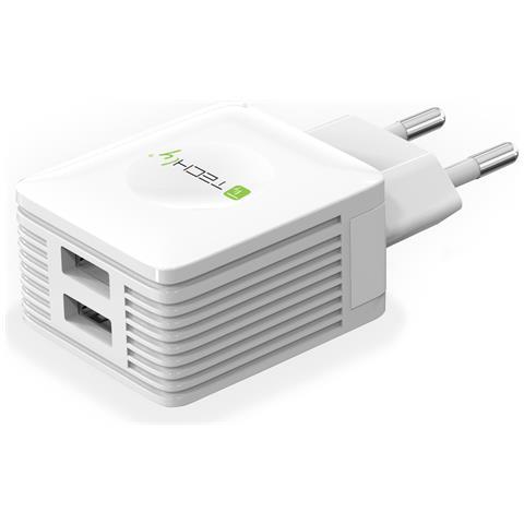 TECHLY IPW-USB-EC152W - Caricatore USB 2 porte