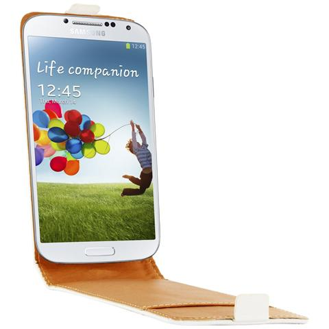 SWISS CHARGER Custodia X Samsung Galaxy S4 Scp10087w Swiss Charger In Pelle Flip White