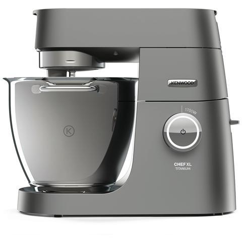 Titanium Chef XL System Pro Robot da Cucina Potenza 1700 Watt Capacità 5 Kg Colore Silver